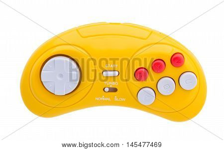 Video game console GamePad. Isolated on white.