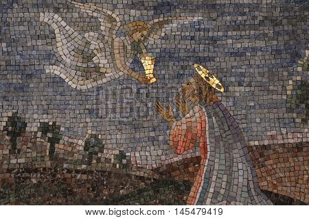 Decorative mosaic in the Papal Basilica of Saint Peter in the Vatican