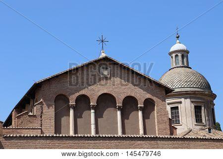 The Basilica Santi Giovanni e Paolo in Rome
