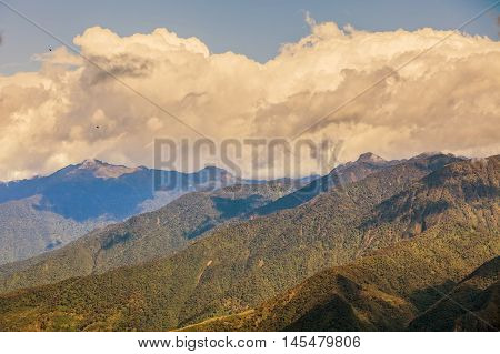 Andean Highland Landscape Ecuador South America Cloudy Day