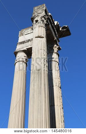 Ancient columns near the Theater of Marcellus