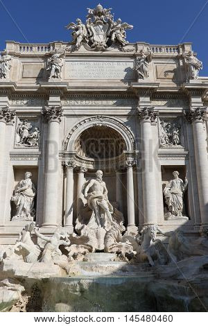 The Trevi Fountain in the city of Rome
