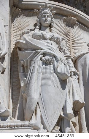 Detail of the National Monument to Victor Emmanuel II in Rome - The Altare della Patria