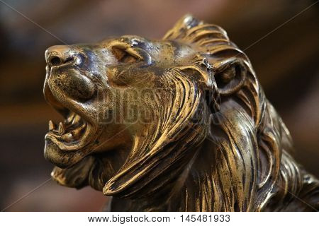 Statue of a lion in the Vatican museums