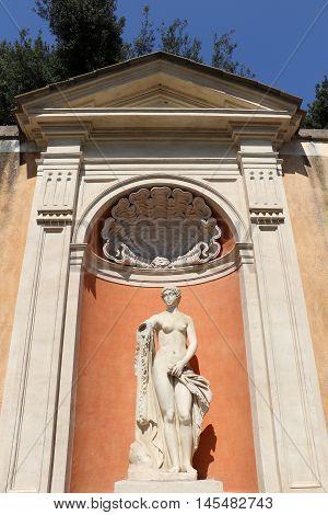 Statue at the villa Medici in Rome