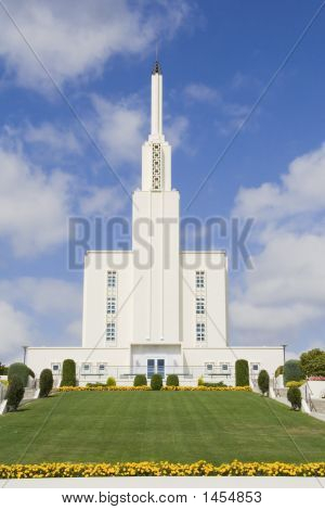 Hamilton New Zealand Mormon Temple Front