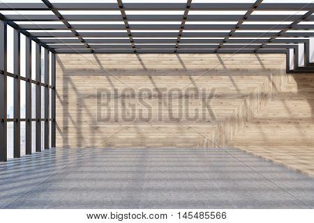 Attic Room With Concrete Floor
