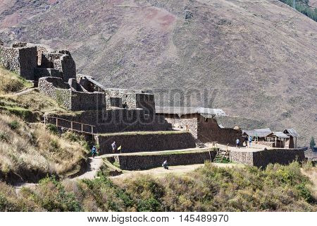 Pisac Ruins In Peru