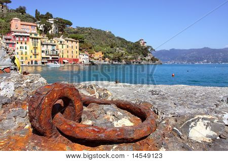 View On Small Town Of Portofino, Italy.