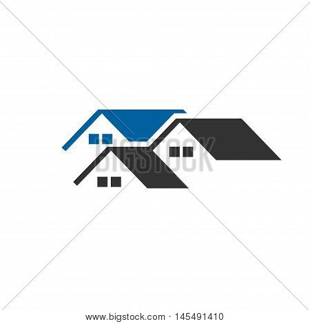 creative roofing house and real estate roofing design concept