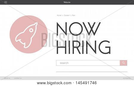 Now Hiring New Business Launch Plan Concept