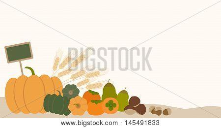 pumpkins acorn chestnut persimmon fruit vegetable pear