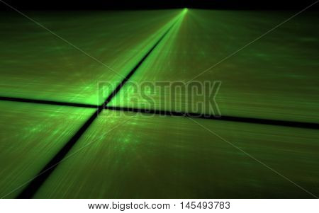 green high tech cross roads fractal image