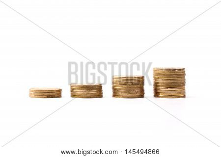 Growth Coins On White