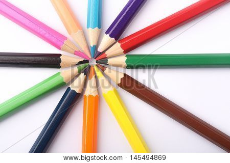 Colorful Pencils Background