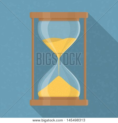 Transparent hourglass icon, sandglass, sandclock, flat design, vector eps10 illustration