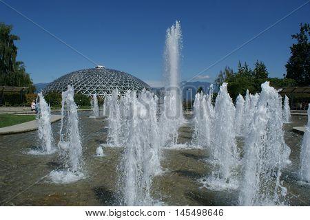 Queen Elizabeth Park and gardens in Vancouver, Canada. July, 2016.