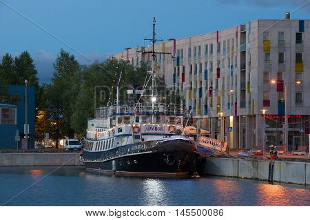 TALLINN, ESTONIA - JULY 31, 2015: Old steamer
