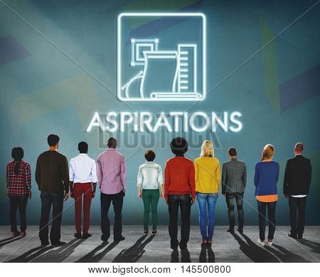 Aspiration Ambition Target Dream Aspire Solution Concept