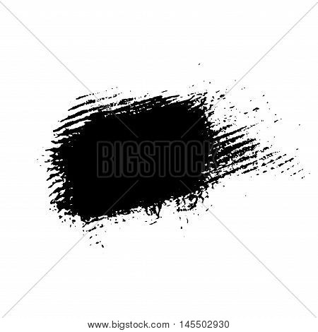 Grunge brush texture white and black. Sketch abstract to create distressed effect. Overlay distress dirty monochrome design. Stylish template modern background. Smear paint prints. Vector illustration