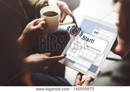 Start Beginning Forward Start up Launch First Activation Concept