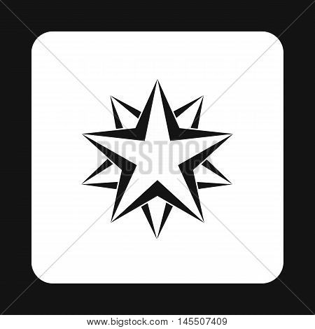 Two crossed stars icon in simple style isolated on white background. Figure symbol