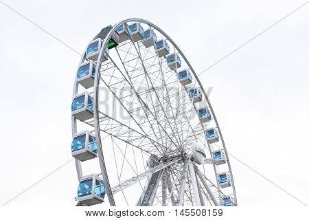 Helsinki, Finland 21 December 2015 - Ferris Wheel In Port Of Helsinki