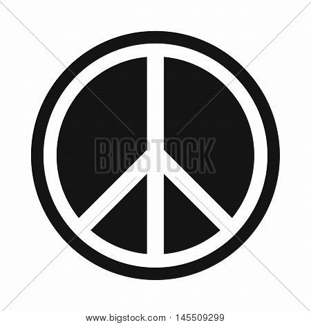 Sign hippie peace icon in simple style isolated on white background. People symbol