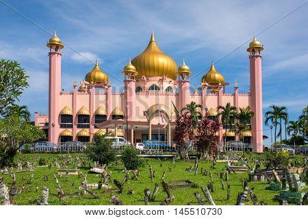 Kuching City Mosque (Masjid Bahagian) at day time, Sarawak, Malaysia.