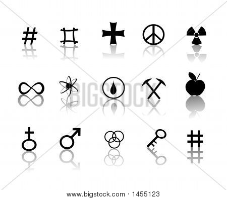 Signs And Symbols Icons Set