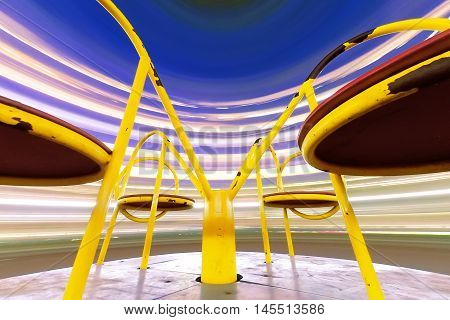 the night the carousel the old / bright colorful abstract photography