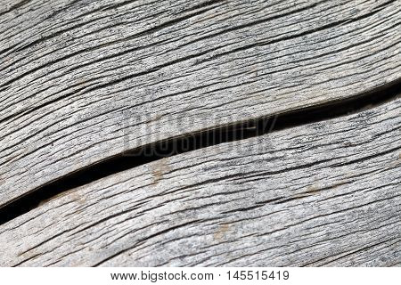 Detail of the crack in the wood
