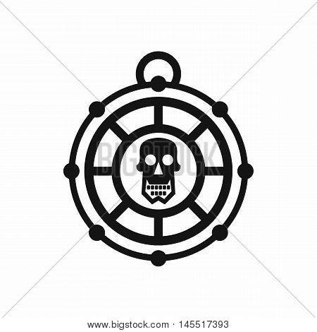Pirate amulet icon in simple style isolated on white background. Talisman symbol