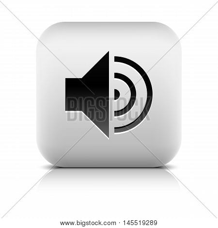Media Player Icon With Volum High Sign.