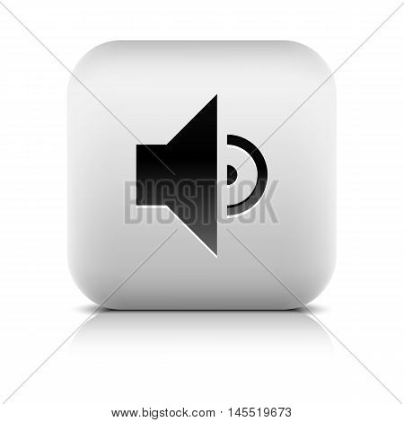 Media Player Icon With Volume Low Sign