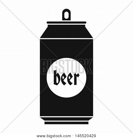 Beer in aluminum cans icon in simple style isolated on white background. Drink symbol