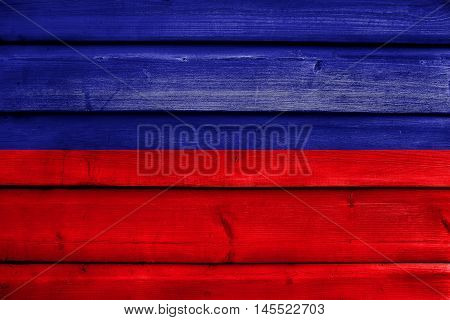 Flag Of Tulcan, Ecuador, Painted On Old Wood Plank Background
