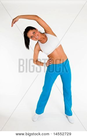 Woman Exercising Aerobics