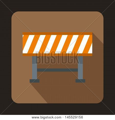 Barrier icon in flat style isolated with long shadow
