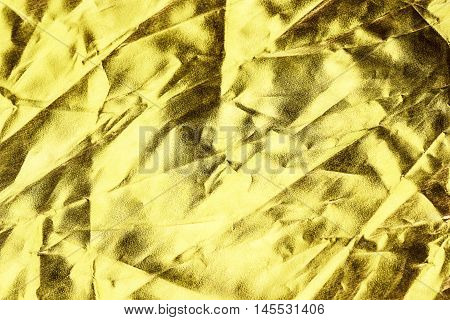 Gold Fabric Crease Background Or Texture And Shadow