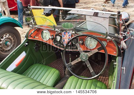 TISNOV, CZECH REPUBLIC - SEPTEMBER 3, 2016: The traditional meeting of fans of vintage cars and motorbikes. Model