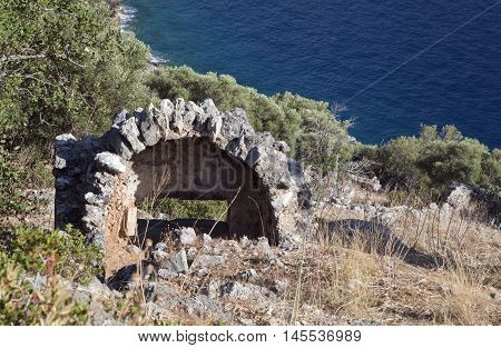 Ruins on St. Nicholas - Gemiler Island, Turkey