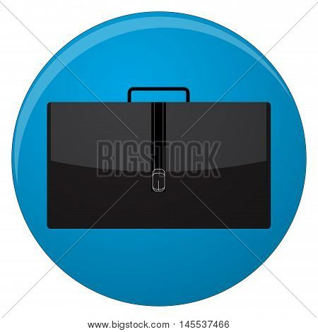 Portfolio icon flat. Suitcase and briefcase icon business briefcase. Vector illustration