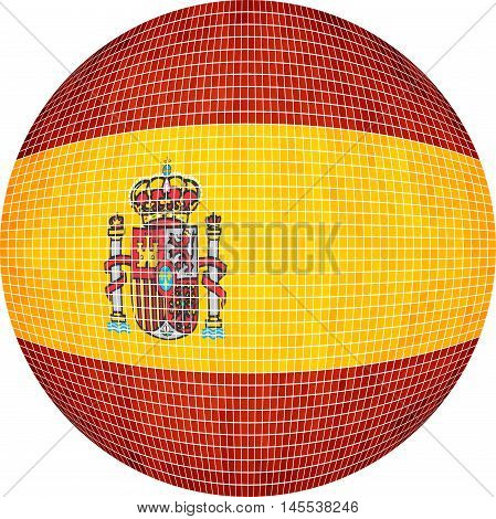 Ball with Spain flag - Illustration,  Abstract Grunge Mosaic flag of Espana