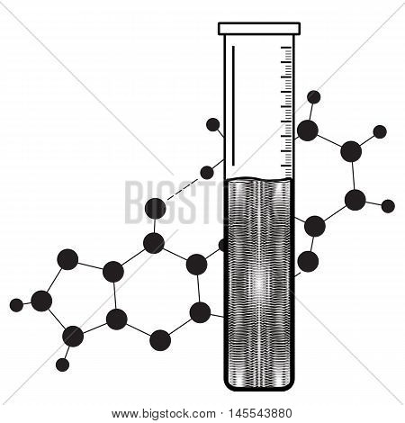 Chemical reaction. Beaker icon. Abstract chemistry element. Vector illustration.