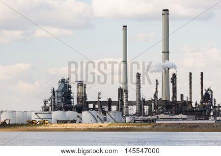 Antwerp Port Refinery Towers