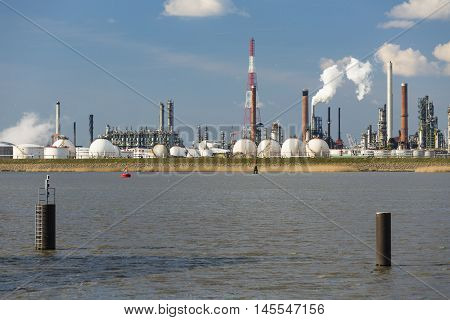 Antwerp Port Refinery And Gas Storage Tanks