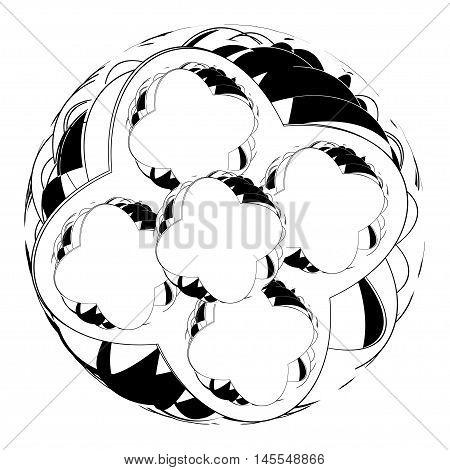 Mandala. Round Ornament Pattern. Ethnic.