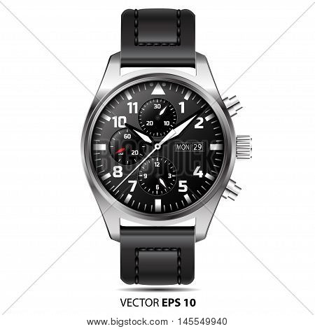 Watch chronograph vector isolated on white background illustration.