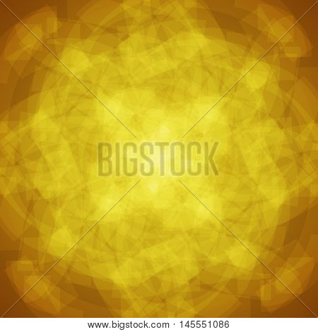abstract vector spotted background - golden yellow and brown